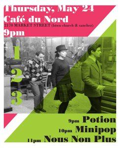 Potion: Cafe du Nord Show Poster 052407