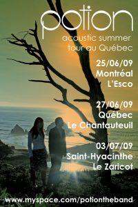 Potion: Quebec 2009 Tour Poster