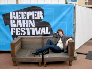 Potion: Hamburg, Germany- Annie at Reeperbahn Festival, taking a break